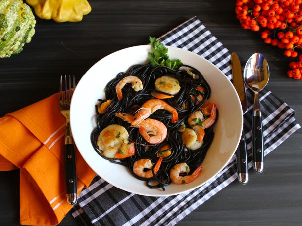 Mì Ý đen hải sản, nhahangphap.com