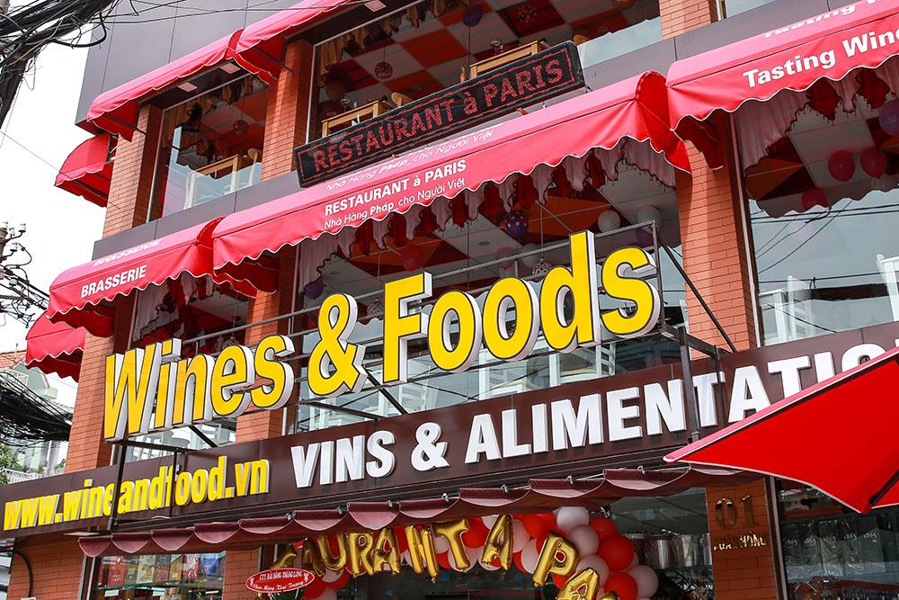 mặt tiền nhà hàng restaurant à paris, nhahangphap.com
